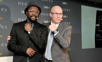 Will.i.am with Gucci CEO Marco Bizzarri