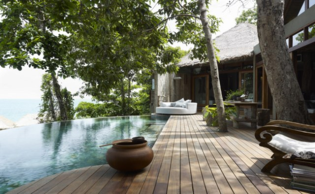 The view and private pool from our 2-bedroom jungle villa