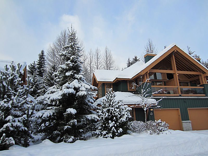 Winter Exterior Montebello Luxury Rental Home in Whistler Resort