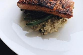 Seared Salmon with Cauliflower Risotto, LVBX Magazine