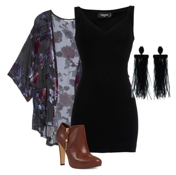 Boho Chic Black Dress