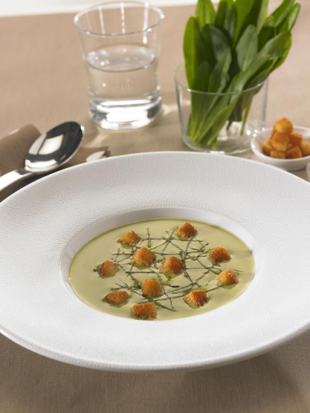 Potage d'Aster à la crème : restaurant l'Armen