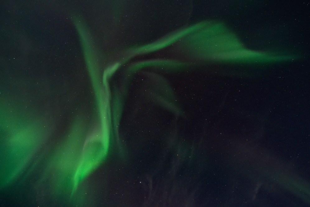 Aurora coronal display winds down - Chatanika, Alaska