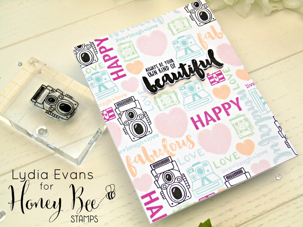 Lydia Evans- Fun stamped background Honey Bee Stamps_4