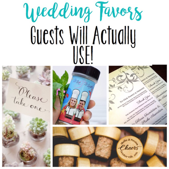 Wedding Favors Guests Will Actually Use
