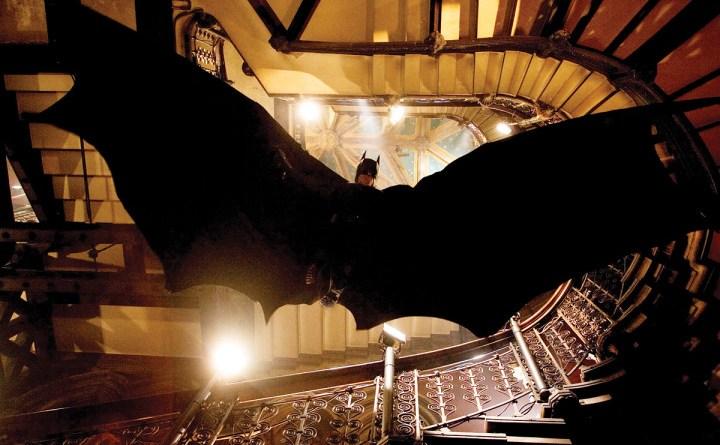 Batman Begins Batman gliding