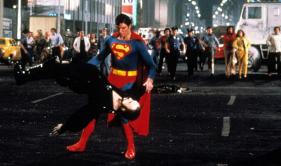 Superman II Superman tosses General Zod