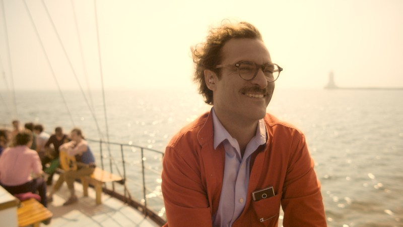 """Courtesy Warner Bros. Pictures Joaquin Phoenix as Theodore in the romantic drama """"HER."""""""