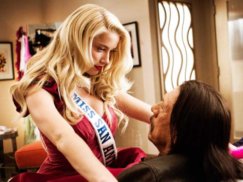 machete kills - amber heard and danny trejo