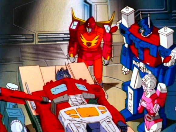 The Transformers The Movie - fallen Optimus Prime