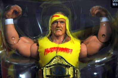 Hulk Hogan Defining Moments figure - close-up in package