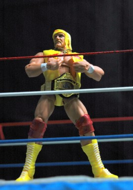 Hulk Hogan Defining Moments figure - Hogan ripping off T-shirt