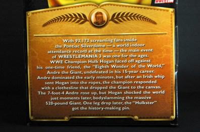 Hulk Hogan Defining Moments figure - package bio