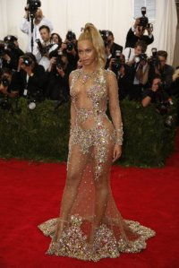 2015 Met Gala - Beyonce sheer dress