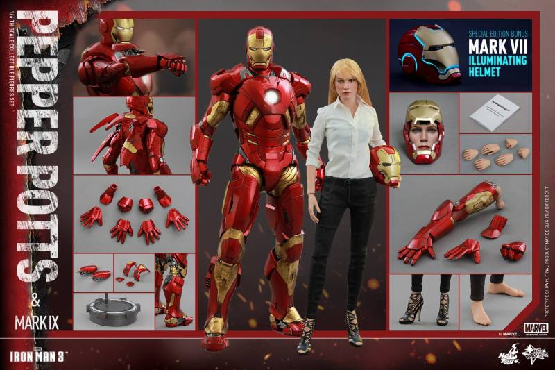 Hot Toys Iron Man 3 Pepper Potts - collage