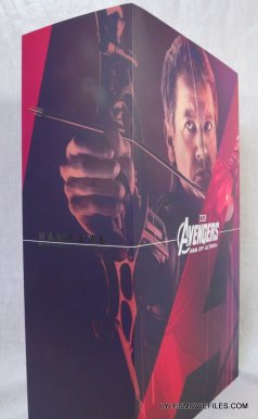 Hawkeye Hot Toys Avengers Age of Ultron - package side