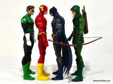 DC Icons The Flash figure review - Green Lantern, Batman and Green Arrow scale