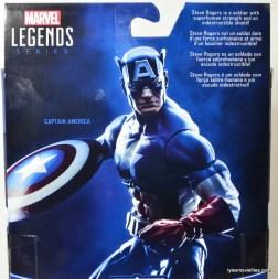 Marvel Legends Captain America review -bio card