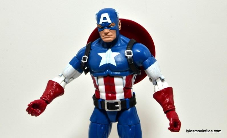 Marvel Legends Captain America review - shoulder straps on