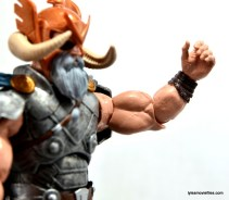Marvel Legends Odin and King Thor review - arm articulation