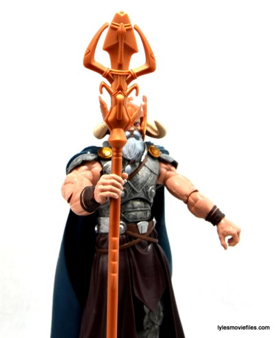 Marvel Legends Odin and King Thor review - Odin staff details