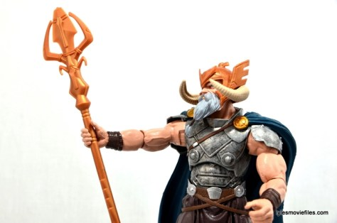 Marvel Legends Odin and King Thor review - Odin waving staff