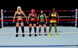 WWE Sasha Banks figure review - scale with Charlotte, AJ Lee and Naomi