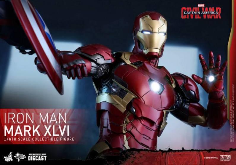 Hot Toys Civil War Iron Man -shield coming