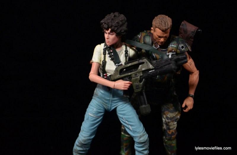 NECA Aliens Ellen Ripley figure - carrying Hicks