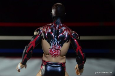 WWE Elite 41 Finn Balor -back paint detail