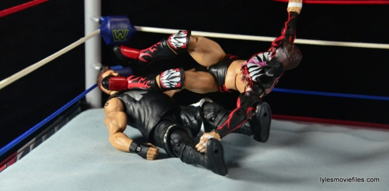 WWE Elite 41 Finn Balor - corner dropkick to Owens