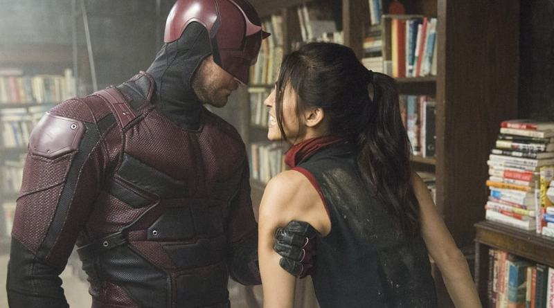 daredevil - the dark at the end of the tunnel review - daredevil and elektra-min