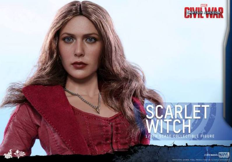 Hot Toys Scarlet Witch figure -wide face close up