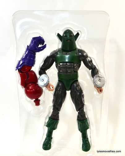 Marvel Legends Whirlwind figure review -in plastic tray