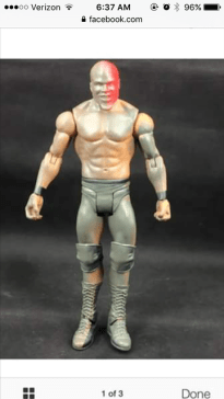 Mattel WWE prototype -Apollo Crews