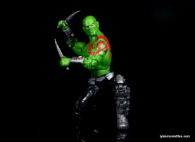 Guardians of the Galaxy Marvel Legends exclusive -Drax kneeling