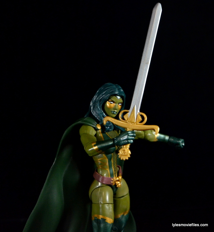 Guardians of the Galaxy Marvel Legends exclusive -Gamora sword closeup