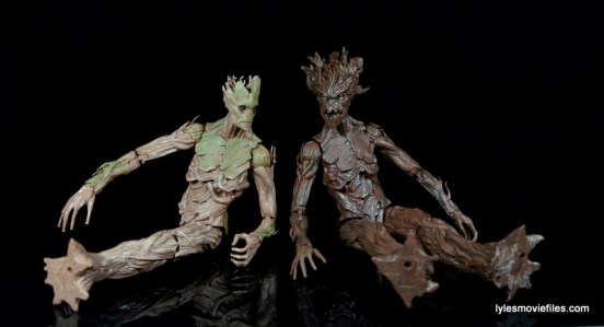 Guardians of the Galaxy Marvel Legends exclusive - Groot with movie Groot sitting