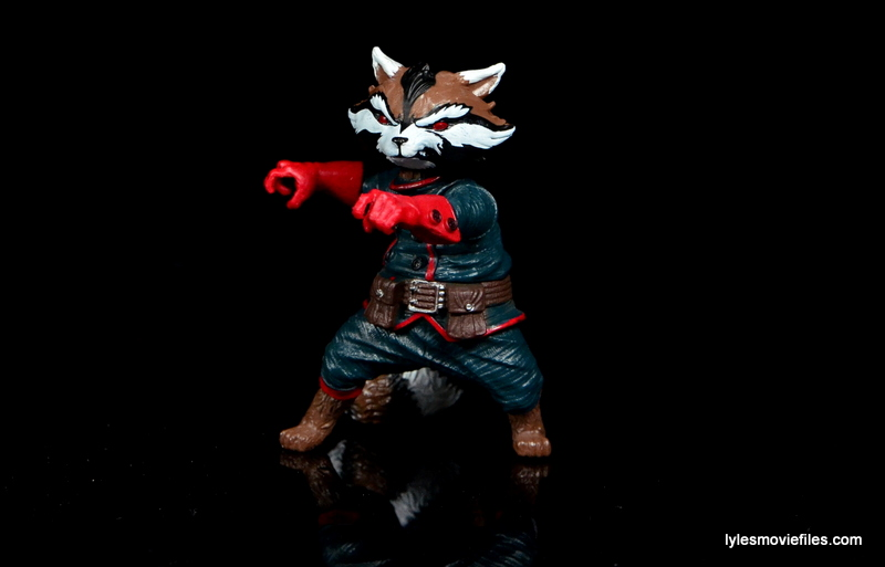 Guardians of the Galaxy Marvel Legends exclusive -Rocket posing