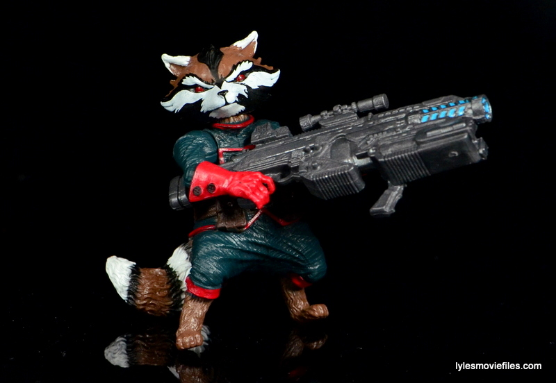 Guardians of the Galaxy Marvel Legends exclusive -Rocket with big gun