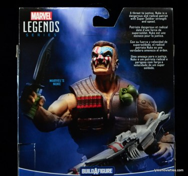 Marvel Legends Nuke review - package bio close up