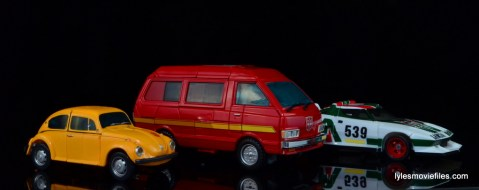 Transformers Masterpiece Ironhide figure review - van mode with Bumblebee and Wheeljack