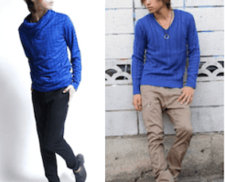 mens blue cutsew