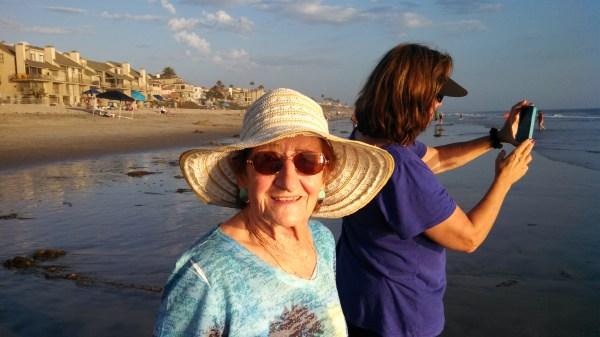 Mom enjoying Carlsbad with my sister