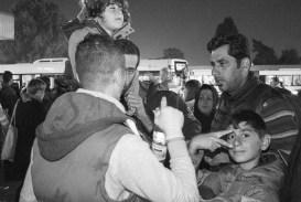 Ankunft Flüchtlinge in Schönefeld