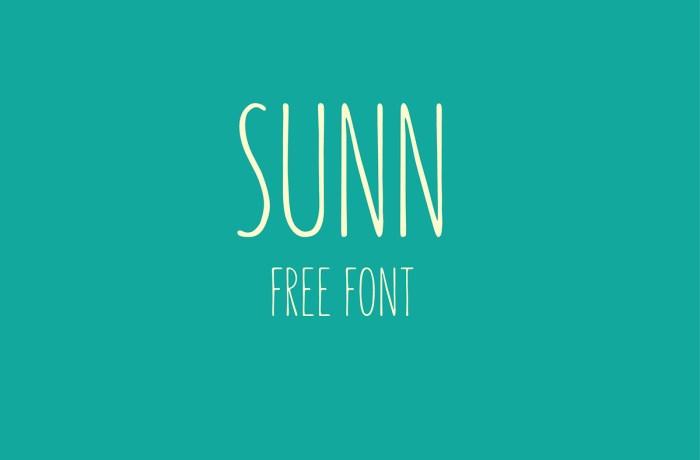 Sunn - Free Handwriting Font Download