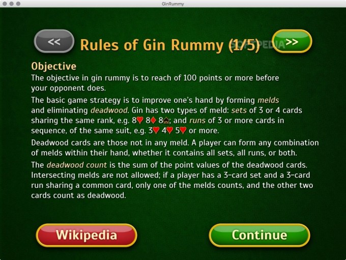 Gin Rummy Card Game Instructions Games World