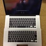 キーボード交換 macbook pro retina TOPCASE交換