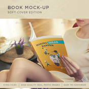 Book mock up soft cover edition 9053276 icon