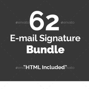62 email signature bundle 12486885 icon